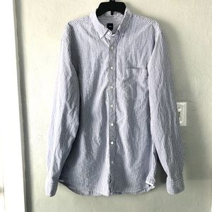Gap Stipe Long Sleeve Button Down Shirt Mens Sz XL